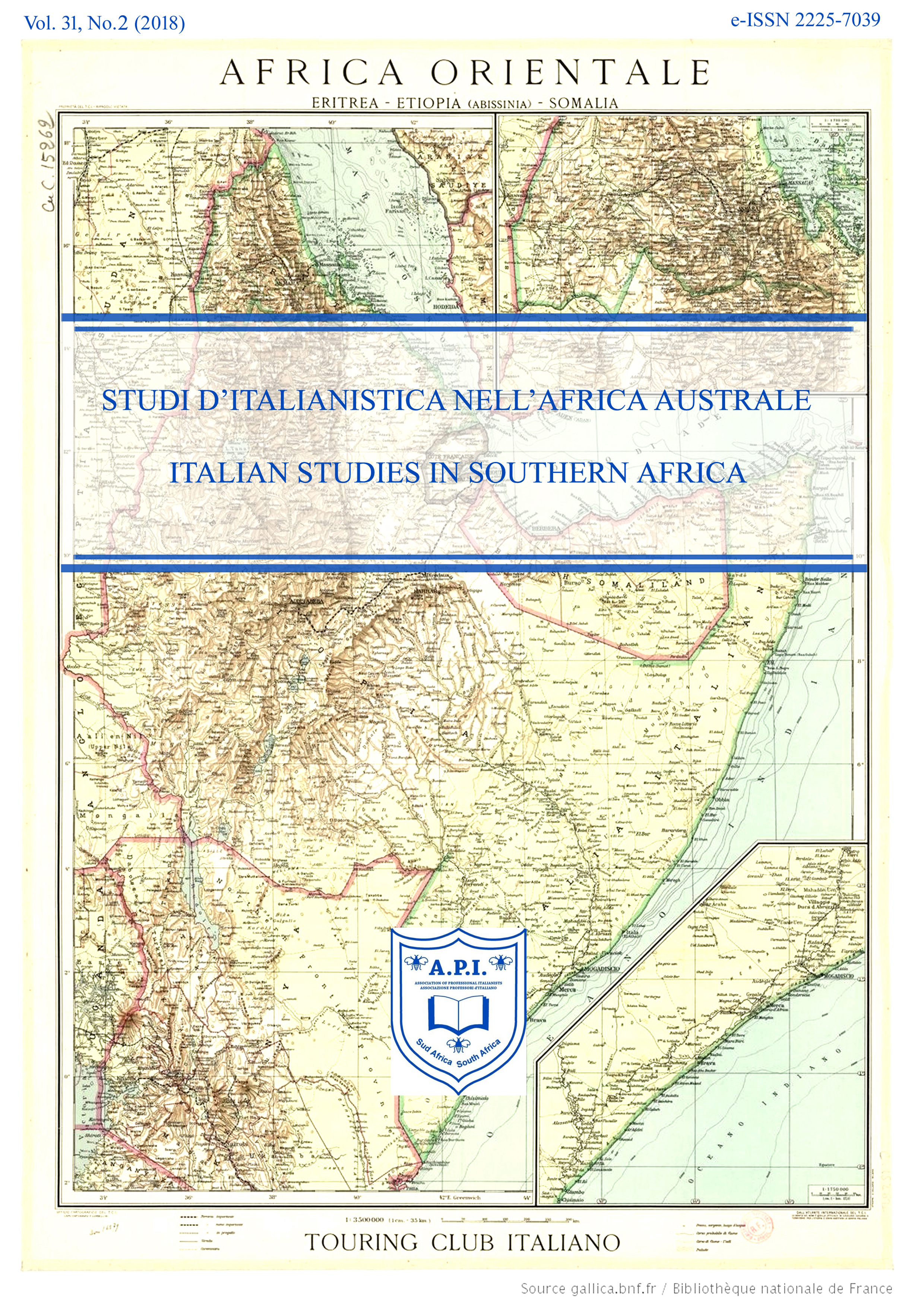 POSTCOLONIALISMI ITALIANI IERI E OGGI / ITALIAN POSTCOLONIALISMS: PAST AND PRESENT